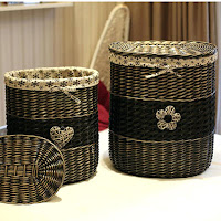 Wicker laundry baskets with lids vintage basket for clothes