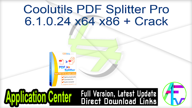 Coolutils PDF Splitter Pro 6.1.0.24 x64 x86 + Crack