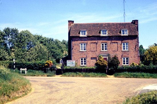 Photograph of the Georgian house at Bell Bar at top of Bulls Lane1962. Image by Ron Kingdon, digitised by Mike Allen