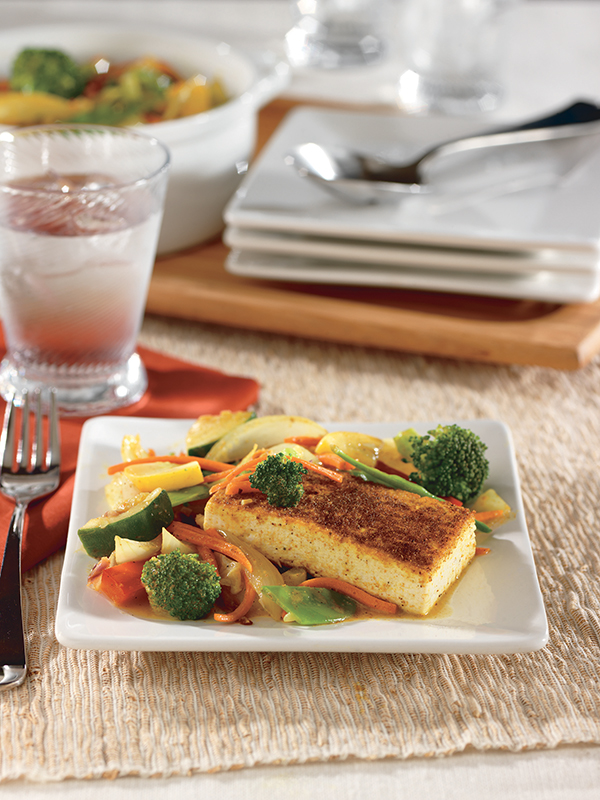 Curry-Spiced Tofu with Asian Vegetables