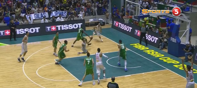 Raymond Almazan's MONSTER Slam vs Iraq (VIDEO) FIBA Asia Cup 2017