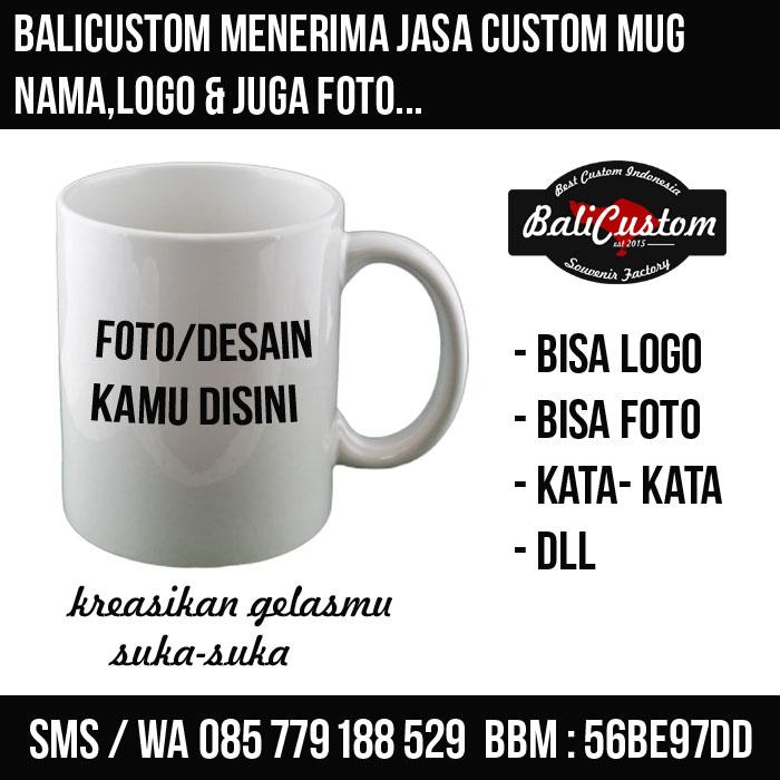 Jasa Custom MUG/GELAS Sablon Murah Suka-Suka