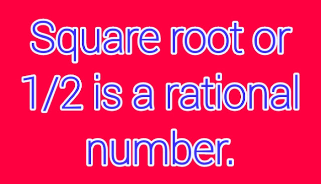 Square root in the form of rational number