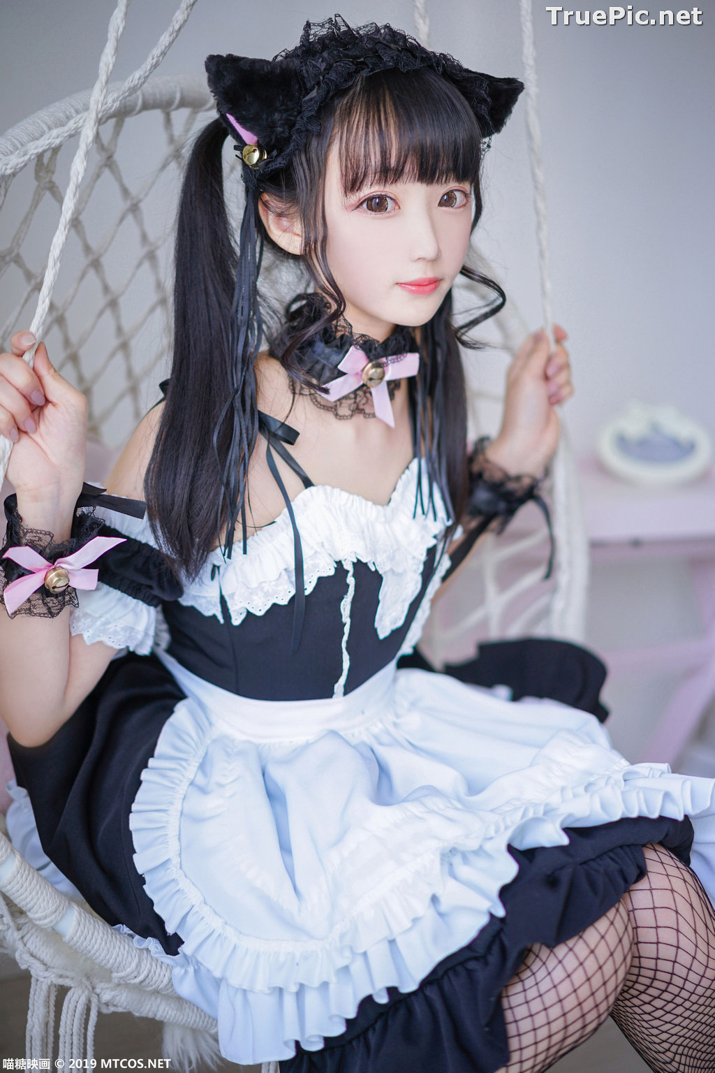 Image [MTCos] 喵糖映画 Vol.051 - Chinese Cute Model - Lovely Maid Cat - TruePic.net - Picture-7