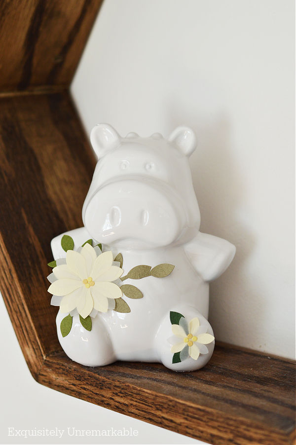 Cute Cottage Style Cow Decor with flowers