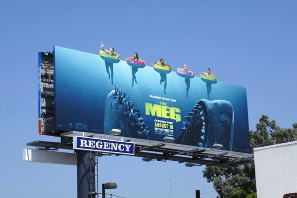 Meg movie extension cut-out billboard