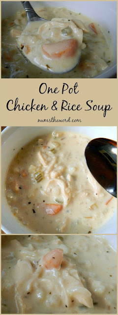 One Pot Creamy Chicken & Rice Soup