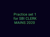 SBI CLERK MAINS 2020 exam mock test