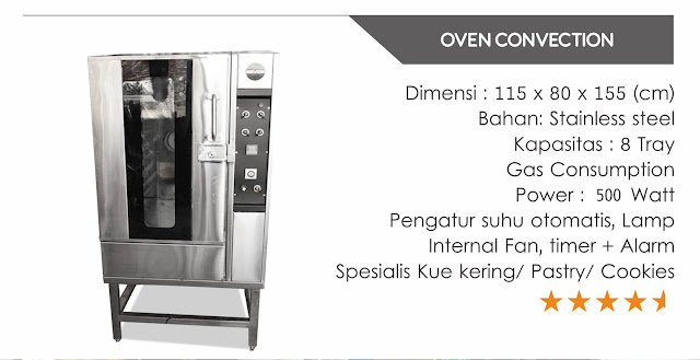 Oven Convection stainless steel