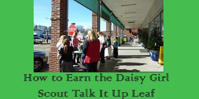 How to Earn the Daisy Girl Scout Talk It Up Leaf