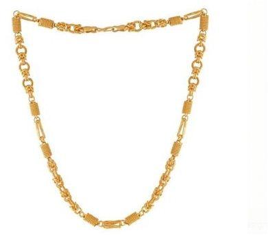 Designer Gold Plated Neck Chain For Men