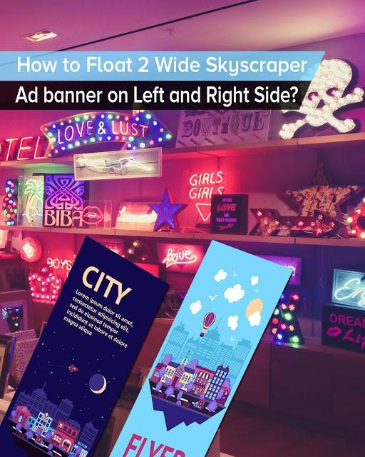 Cara Membuat 2 Banner Iklan Adsense Melayang (Kanan Kiri)