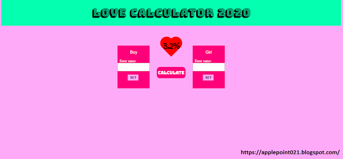 Love Calculation Script File for Blogger