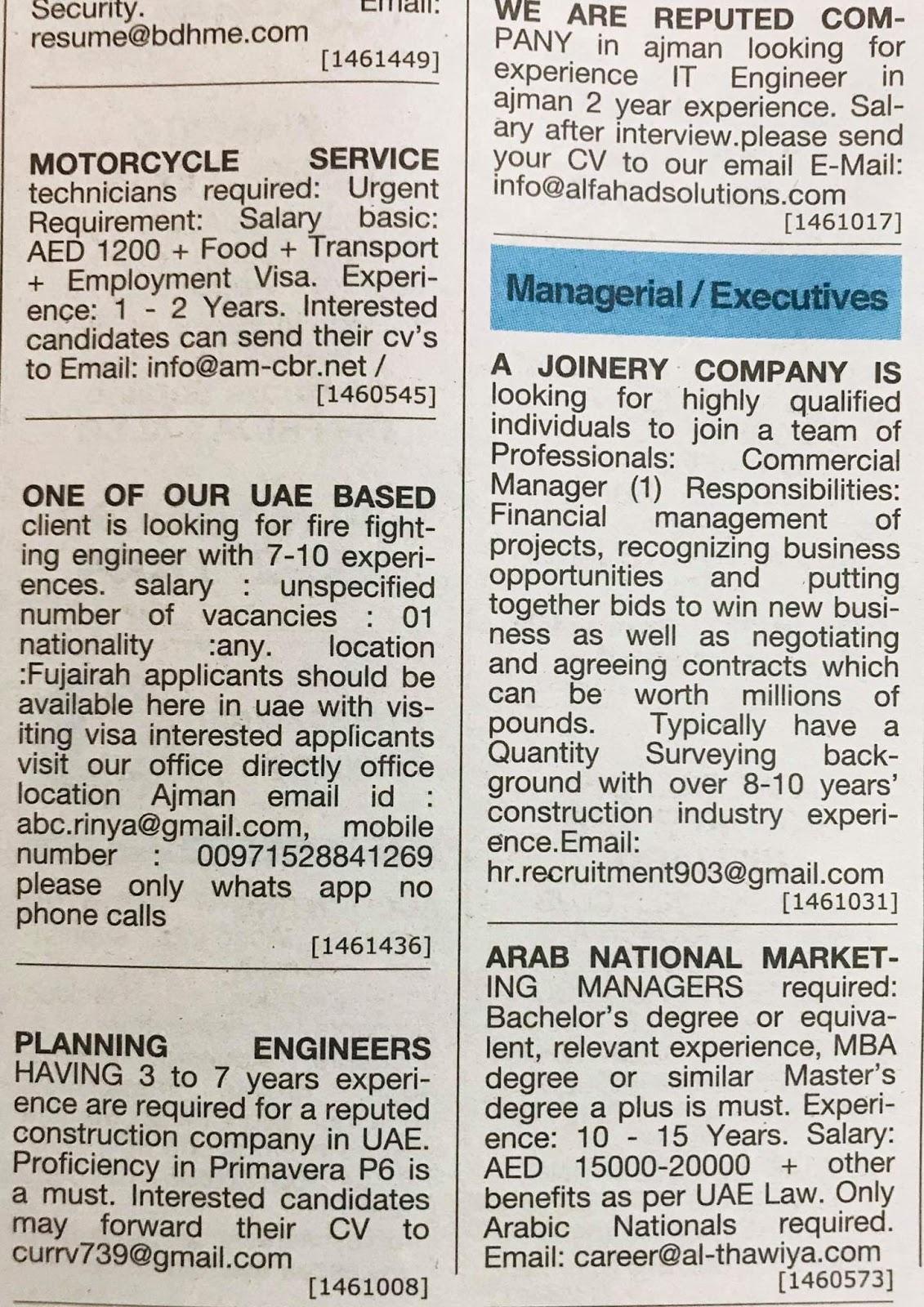 Candidates Hiring for UAE Local Hiring Jobs Khaleej Times-UAE