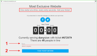Website unik, Just satu pengunjung permenit Allowed