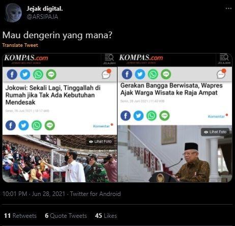 Jokowi-Minta-Rakyat-Tinggal-di-Rumah-Wapresnya-Ajak-Wisata-Publik-Jadi-Bingung-Mau-Pilih-Mana
