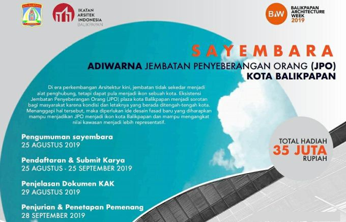 Sayembara arsitektur 2019 JPO Balikpapan