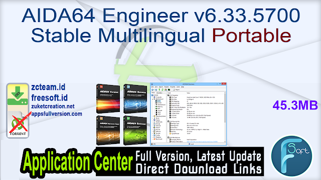 AIDA64 Engineer v6.33.5700 Stable Multilingual Portable