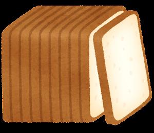 10枚に切られた食パンのイラスト