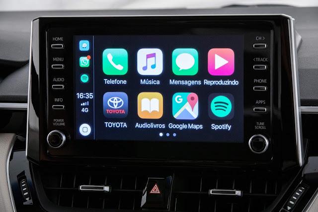 Toyota Corolla 2020 Hybrid - central mulltimídia