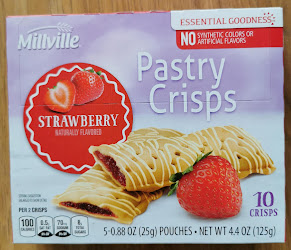 A box of Millville Strawberry Pastry Crisps, from Aldi