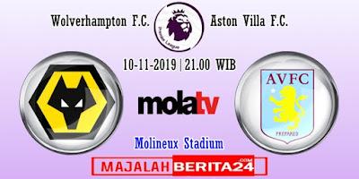 Prediksi Wolverhampton vs Aston Villa — 10 November 2019