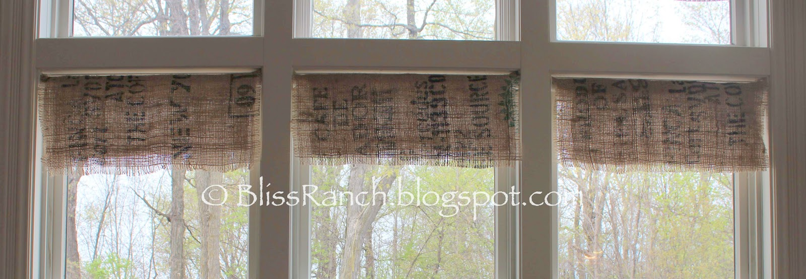 Coffee Sack Kitchen Valance Www Bliss Ranch Com