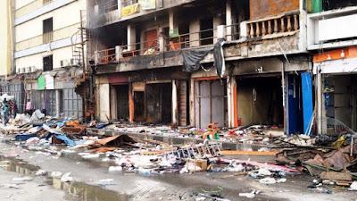 Photo News: what's left of Balogun Market after fire