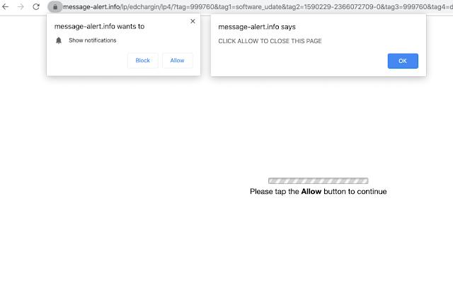 Message-alert.info pop-ups