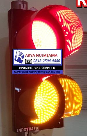 Jual Lampu Lalu Lintas Merah Kuning 2x20cm di Kalimantan