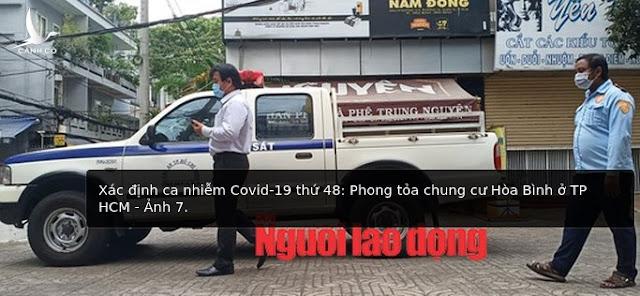 Phong tỏa chung cư Hòa Bình ở TP.HCM do có ca nhiễm Covid-19 thứ 48