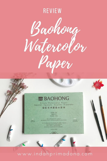 review watercolor paper, review baohong watercolor paper, baohong watercolor paper, watercolor for beginner, watercolor kit, watercolor paper pemula