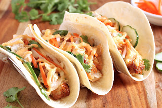 Swordfish Taco with Spicy Lemongrass Aioli
