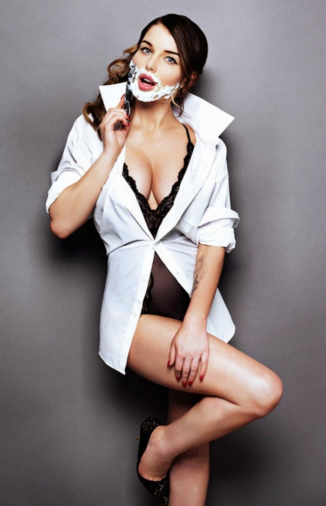 Helen Flanagan poses for The Sun magazine November 2014