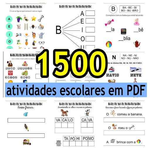 1500 atividades escolares