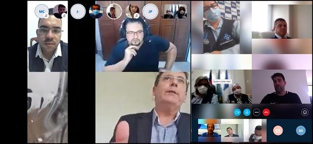 Prefeito Inácio participou de importante reunião online nesta sexta-feira