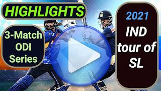 Sri Lanka vs India ODI Series 2021
