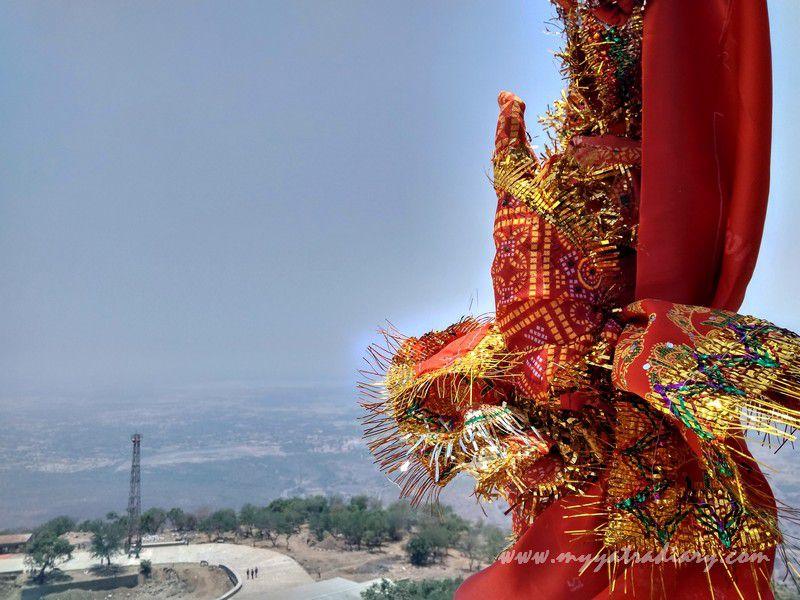 Red Chunris at the Mahakalika Temple, Pavagad, Champaner Gujarat
