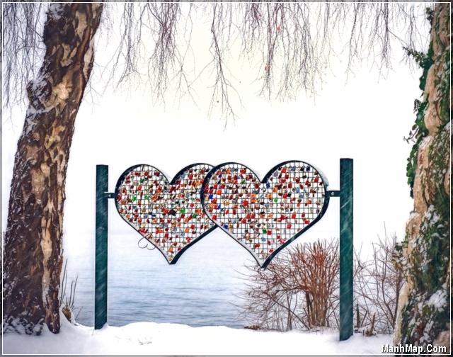 ảnh 2 trái tim và mùa đông