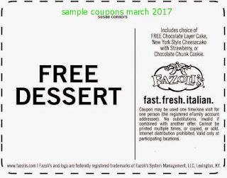 free Discount coupons march 2017