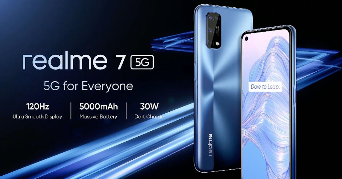 Realme 7 5G مع Dimensity 800U