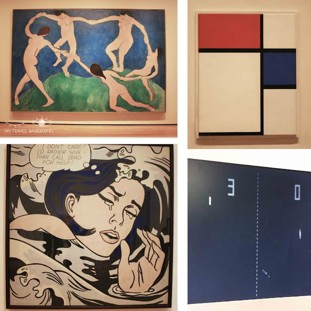 My Travel Background : Une semaine à New York - MoMA - Matisse, Lichtenstein, Mondiran, Pong