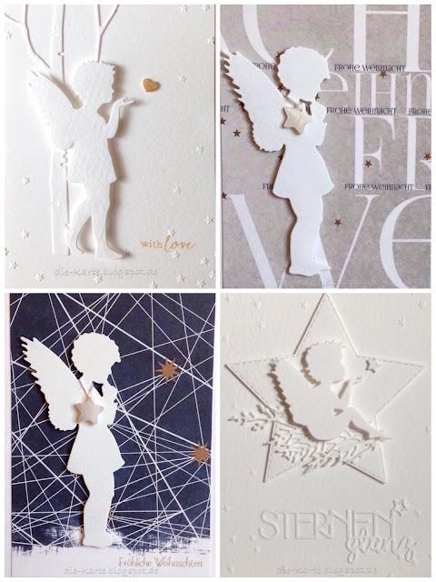 """""""Engel"""", """"Engel mit Herz"""", """"Engel mit Stern"""" Alexandra Renke, Designpapier Alexandra Renke,  """"Sternenglanz"""" Charlie & Paulchen"""