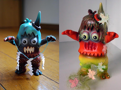 "Fall Custom Ugly Unicorns by Rampage Toys - Custom #11 ""Shinto Ugly"" & Custom #13 ""Momiji Ugly"""