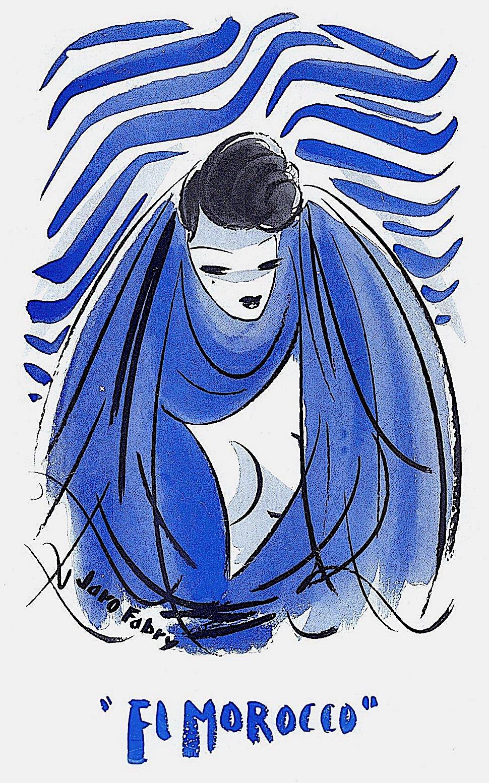 a Jaro Fabry illustration for blue El Morocco