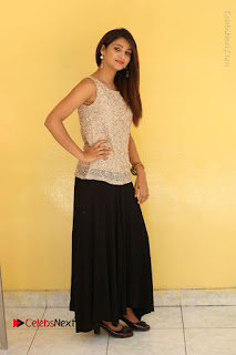 Tollywood Upcoming Actress Arthi Stills in Black Skirt at Plus 1 Movie Trailer Launch  0137.JPG