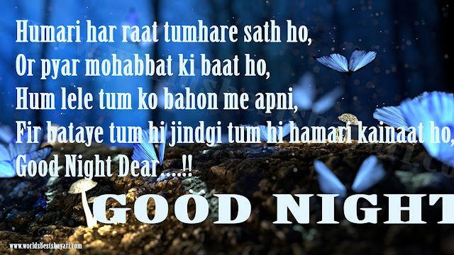Romantic Good Night Shayari | Sad, Happy, Good Night Shayari | Good Night Quotes | Good Night Wishes