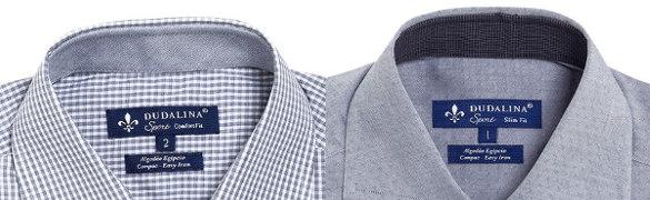 Camisas masculinas Etiquetas de identificação