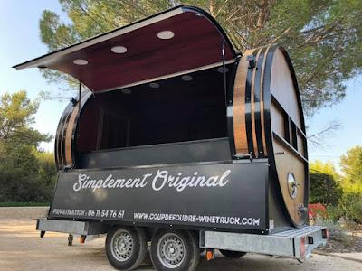 Wine truck mobile le coup de foudre est wine truck
