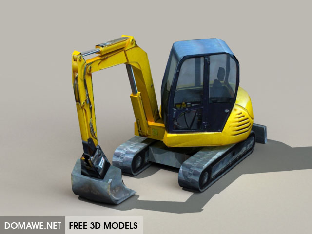 DOMAWE net: Low poly Digger 3D Model Free - 2